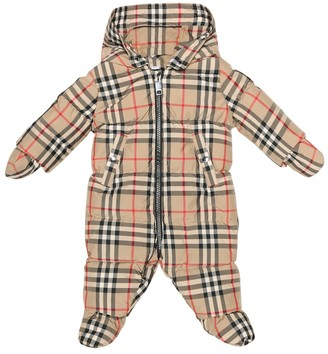 BURBERRY KIDS Baby checked down onesie
