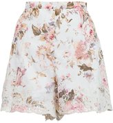 Zimmermann 'Eden' floral embroidered shorts