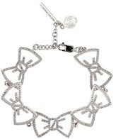 Alexis Mabille Crystal Bow Bracelet