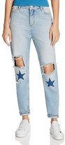 Sandro Monaco Embellished Jeans in Blue