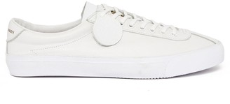 Pretty Green Leather Lace Up Trainer - White