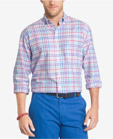 Izod Men's Multicolor Gingham Long Sleeve Oxford Shirt