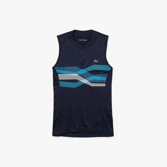 Lacoste Womens SPORT Ultra Dry Geometric Print Performance Polo