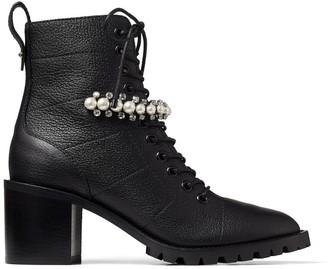 Jimmy Choo Cruz 65 Embellished Leather Boots