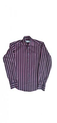 Saint Laurent Burgundy Cotton Shirts