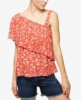Sanctuary Felicity Printed One-Shoulder Flounce Top