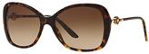 Versace VE4303 Oversized Square Sunglasses, Tortoise/Brown Gradient