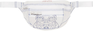 Kenzo White Mini Transparent Tiger Bum Bag