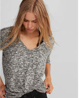 Express brushed heathered v-neck london tee