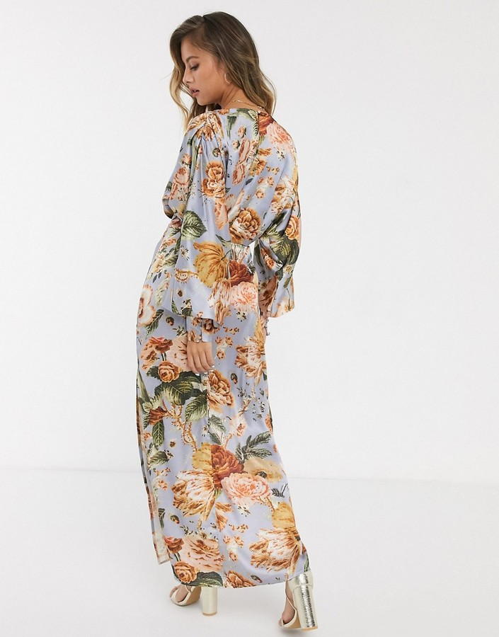Thumbnail for your product : Hope & Ivy maxi tea dress in tapestry floral