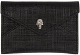 Alexander McQueen Black and Gunmetal Skull Envelope Card Holder