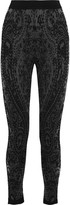 Balmain Embroidered tulle skinny pants