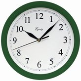 La Crosse Technology Geneva/Advance Clock Co 8104 Quartz 10-Inch Hunter Green Plastic Wall Clock