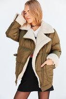 Silence & Noise Silence + Noise Jessa Sherpa Lined Puffer Coat