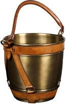 Bradburn Gallery Home Buffalo Stash Bucket, Tan/Polished Brass
