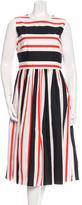Dolce & Gabbana 2016 Striped Midi Dress