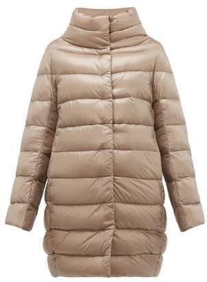 Herno Dora High Neck Down Filled Coat - Womens - Grey
