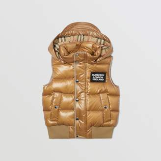Burberry Detachable Hood Nylon Puffer Gilet