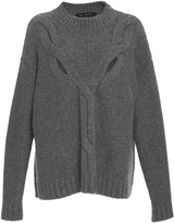 Sally LaPointe Washed Silk Cashmere Cable Knit