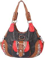 21KBARCELONA 21K 2 Top Zippers Closureultiple Pockets Handbags Washed Leather Purses Shoulder Handbags AK21166