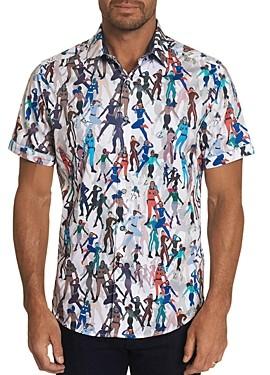 Robert Graham Trixie Classic Fit Short Sleeve Button-Down Shirt