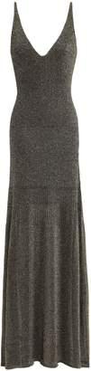 Missoni Metallic Ribbed Stretch-knit Maxi Dress