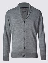 Marks and Spencer Merino Wool Blend Shawl Neck Cardigan