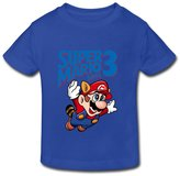 Stabe 2-6 Toddler Tee Kids Toddler Super Mario Bros 3 Little Boy's Girl's T-Shirt RoyalBlue Size 5-6 Toddler