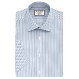 Thomas Pink Lipson Check Classic Fit Short Sleeve Shirt