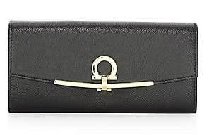 Salvatore Ferragamo Women's Gancini Leather Continental Wallet