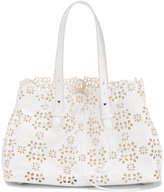 Simone Rocha laser cut floral shoulder bag - women - Leather - One Size