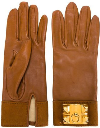 Hermes Pre-Owned leather gloves