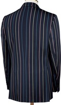 Charles Tyrwhitt Navy multistripe classic fit boating blazer