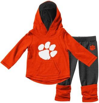 Colosseum Girls Infant Orange Clemson Tigers Minerva Long Sleeve T-Shirt and Leggings Set
