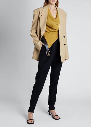 Proenza Schouler Long-Sleeve Double-Breasted Blazer Jacket
