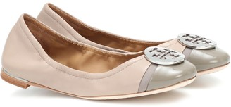 Tory Burch Minnie Cap-Toe leather ballet flats