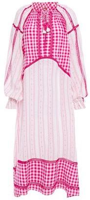 Dodo Bar Or Regina Gingham Cotton-gauze And Jacquard Maxi Dress