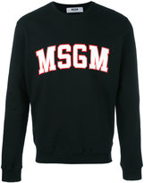 MSGM logo print sweatshirt - men - Cotton - M