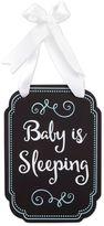 """Pearhead """"Baby's Sleeping"""" Chalk Style Door Hanger in Black"""
