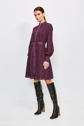 Karen Millen Cotton Broderie Shirt Dress