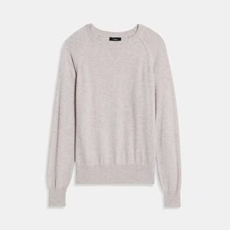Theory Easy Crewneck Sweater in Merino Wool Jersey