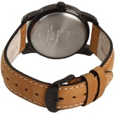 Timex Elevated Classics Black Dial, Tan Leather Strap Watch Watches