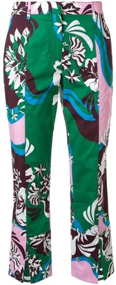 Emilio Pucci Vahine print cropped trousers