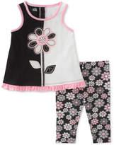 Kids Headquarters 2-Pc. Tunic & Floral-Print Capri Leggings Set, Toddler Girls
