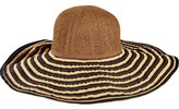 San Diego Hat Company Women's Paper Crown and Ribbon Brim Hat RBL4790
