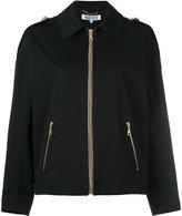 Kenzo branded harrington jacket - women - Cotton/Spandex/Elastane/Acetate - 34