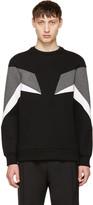 Neil Barrett Tricolor Modernist Sweatshirt