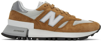 New Balance Tan and Grey 1300 Sneakers
