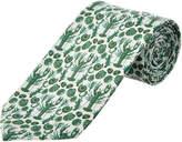 Cole Haan Green Clam Bake Silk-Blend Tie