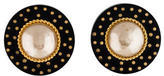 Chanel Large Pearl Clip On Earrings
